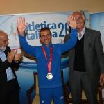 Malagò consegna a Pertile l'oro dei Giochi del Meditteraneo
