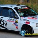 Valerio Scettri alla guida della Clio nel Rally Day dei Colli Scaligeri