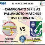 Pallanuoto A2: sabato Roberto Plebiscito vs Chiavari