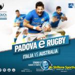 Rugby: test match della Nazionale all'Euganeo contro l'Australia