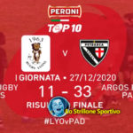 Rugby TOP10: Vittoria e primato in classifica per il Petrarca